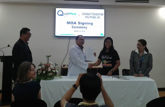 QualiMed Hospital – Iloilo signs MOA with Cataract Foundation Philippines, Inc.