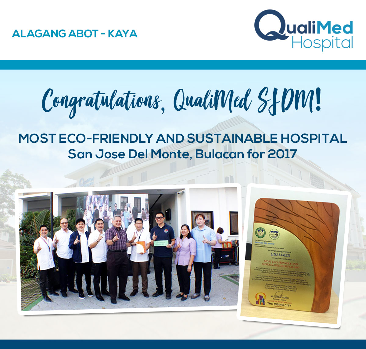 QualiMed Hospital – SJDM Receives Award from Local Government