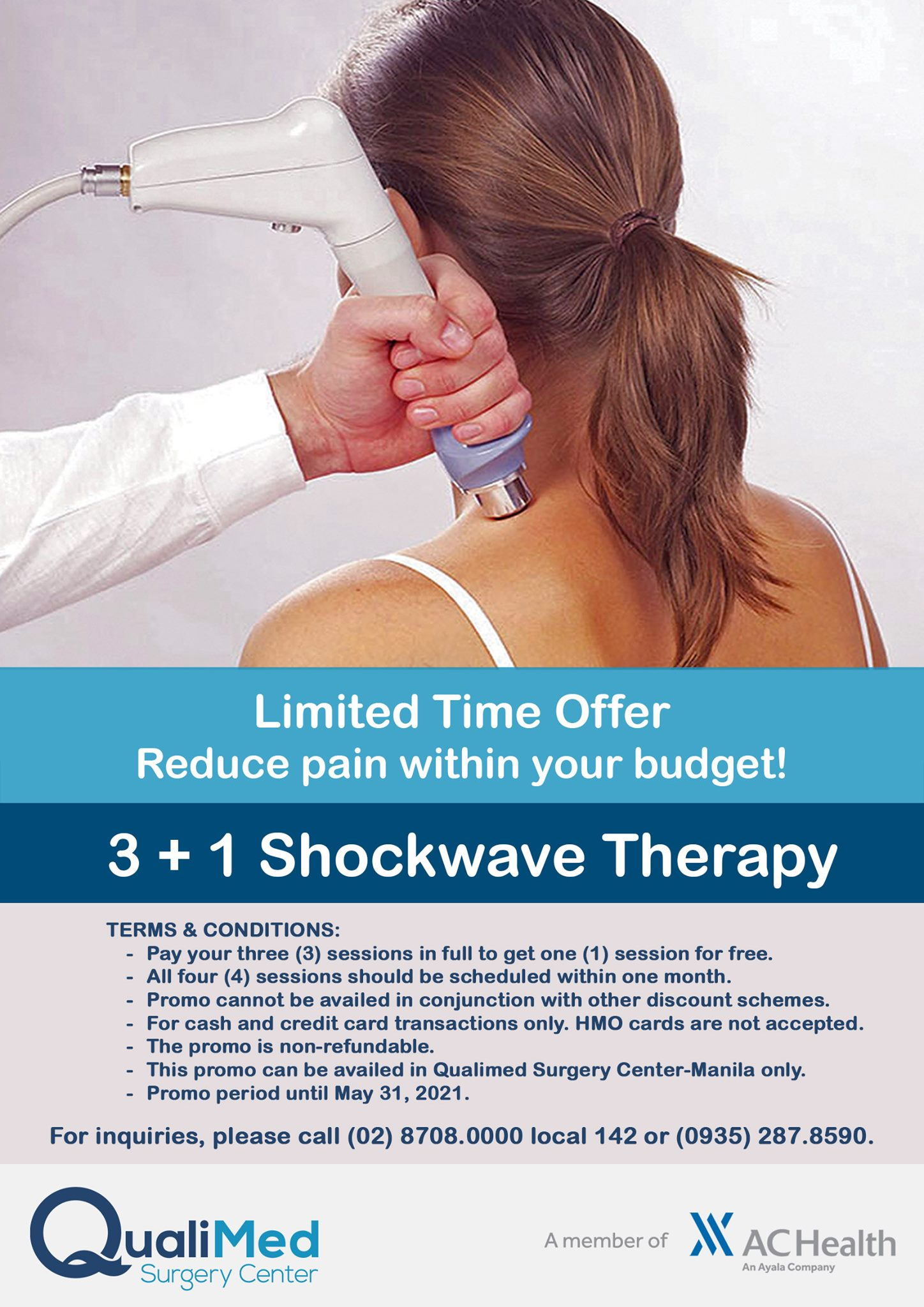 QualiMed Surgery Center  Manila – 3+1 Shockwave Therapy